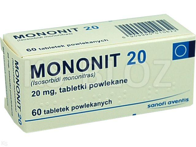 Mononit 20 interakcje ulotka tabletki powlekane 0,02 g 60 tabl.