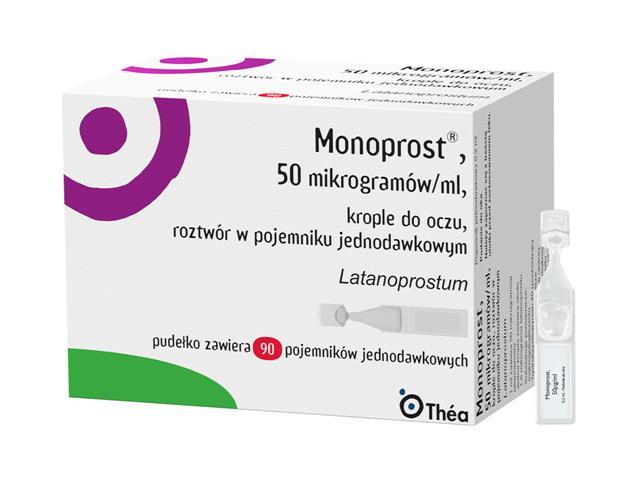 Monoprost interakcje ulotka krople do oczu, roztwór 0,05 mg/ml 90 poj. po 0,2 ml