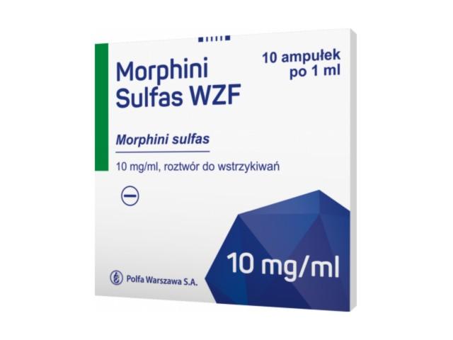 Morphini Sulfas WZF interakcje ulotka roztwór do wstrzykiwań 0,01 g/ml 10 amp. po 1 ml