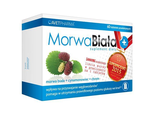 Morwa Biała Plus interakcje ulotka tabletki powlekane  60 tabl.