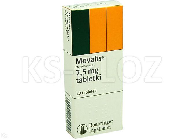 Movalis interakcje ulotka tabletki 7,5 mg 20 tabl.