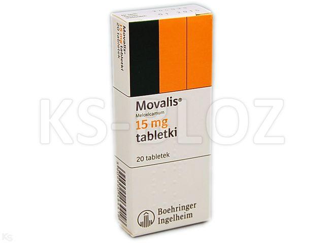 Movalis interakcje ulotka tabletki 0,015 g 20 tabl.