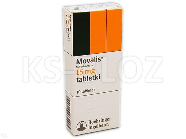 Movalis interakcje ulotka tabletki 0,015 g 10 tabl.