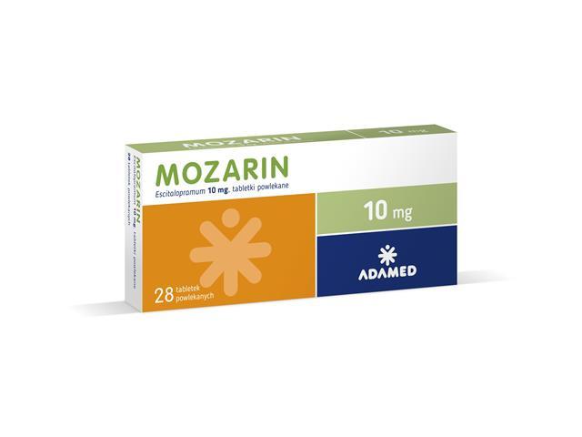 Mozarin interakcje ulotka tabletki powlekane 0,01 g 28 tabl.