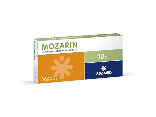 Mozarin interakcje ulotka tabletki powlekane 0,01 g 56 tabl.