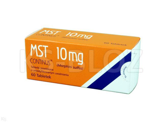 MST Continus interakcje ulotka tabletki powlekane o zmodyfikowanym uwalnianiu 0,01 g 60 tabl.
