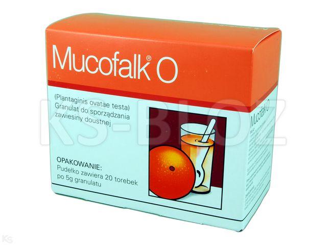 Mucofalk O interakcje ulotka granulat do sporządzania zawiesiny doustnej  20 sasz. po 5 g