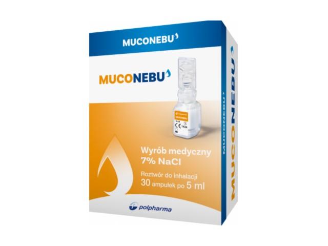 MucoNebu (Nebu Muco) interakcje ulotka roztwór do inhalacji 7 % 30 amp. po 5 ml