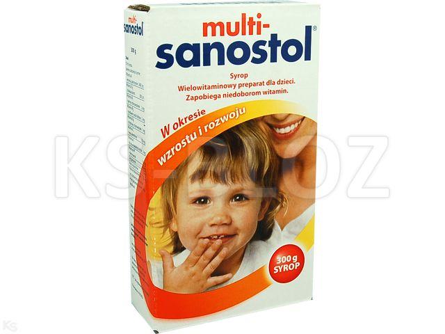 Multi-Sanostol interakcje ulotka syrop  300 g