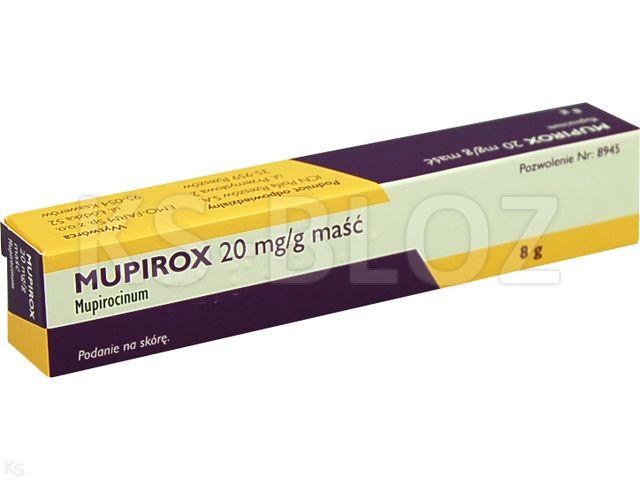 Mupirox interakcje ulotka maść 0,02 g/g 8 g