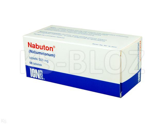 Nabuton VP interakcje ulotka tabletki 0,5 g 60 tabl.