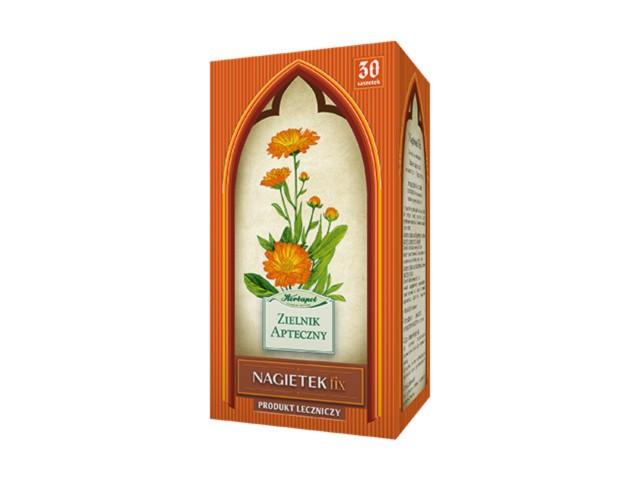 Nagietek Fix interakcje ulotka zioła do zaparzania w saszetkach 1 g 30 toreb.