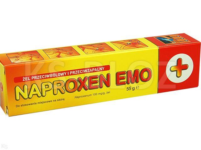 Naproxen Emo interakcje ulotka żel 0,1 g/g 55 g