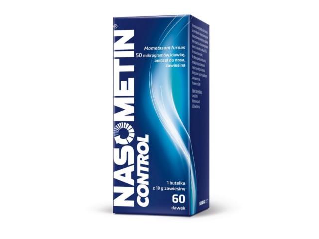 Nasometin Control (Mometasone Sandoz) interakcje ulotka aerozol do nosa, zawiesina 0,05 mg/daw. 1 but. po 60 daw.