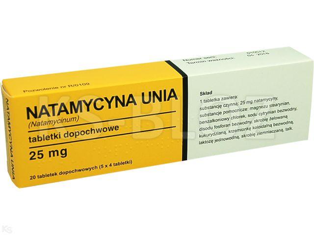Natamycyna Unia interakcje ulotka tabletki dopochwowe 0,025 g 20 tabl.