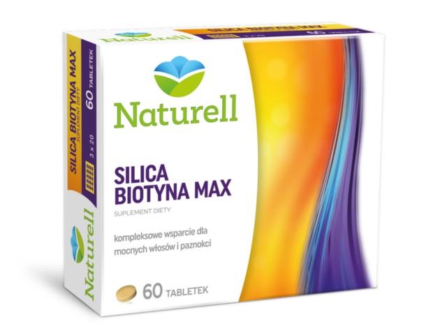 NATURELL Silica Biotyna Max interakcje ulotka tabletki  60 tabl.