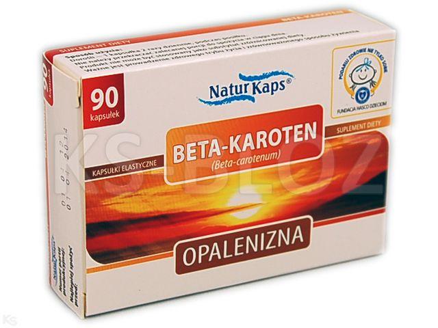 Naturkaps Beta-Karoten interakcje ulotka kapsułki  90 kaps.