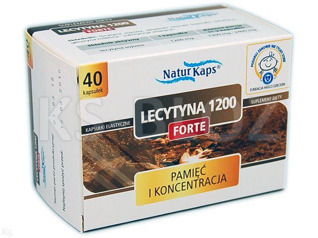 Naturkaps Lecytyna 1200 Forte interakcje ulotka kapsułki  40 kaps.