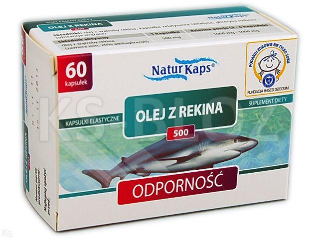 Naturkaps Olej z rekina 500 interakcje ulotka kapsułki  60 kaps.
