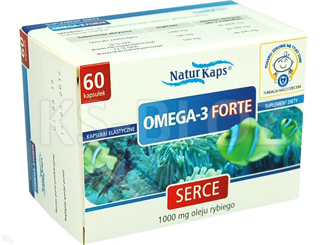 Naturkaps Omega - 3 Forte interakcje ulotka kapsułki 1 g 60 kaps.