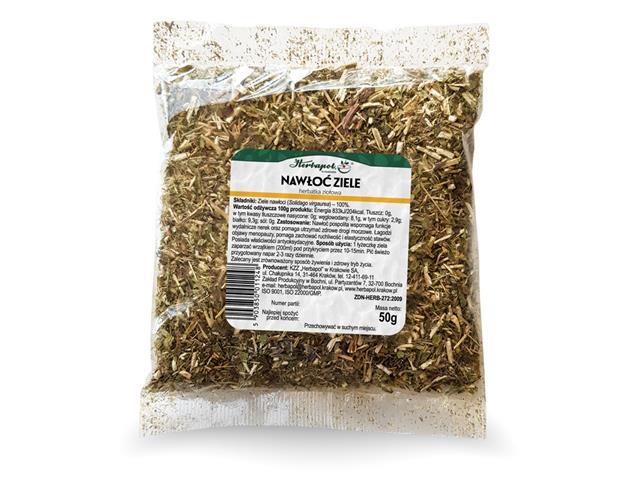 NAWŁOĆ ZIELE Herbatka ziołowa interakcje ulotka zioła do zaparzania  50 g
