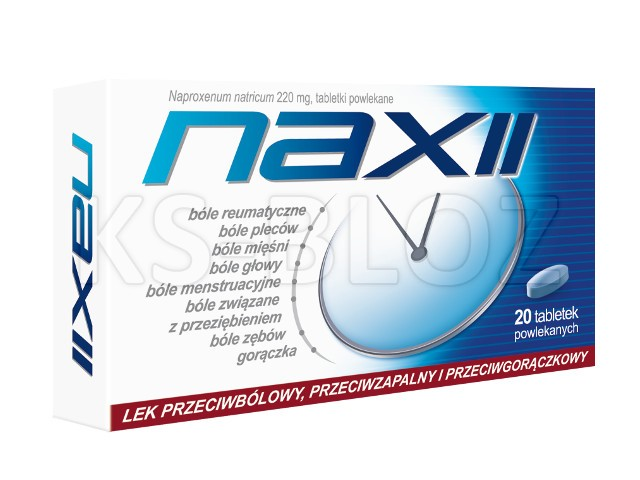 Naxii interakcje ulotka tabletki powlekane 0,22 g 20 tabl. | blister