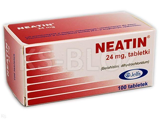 Neatin interakcje ulotka tabletki 0,024 g 100 tabl. | 10 blist.po 10 szt.