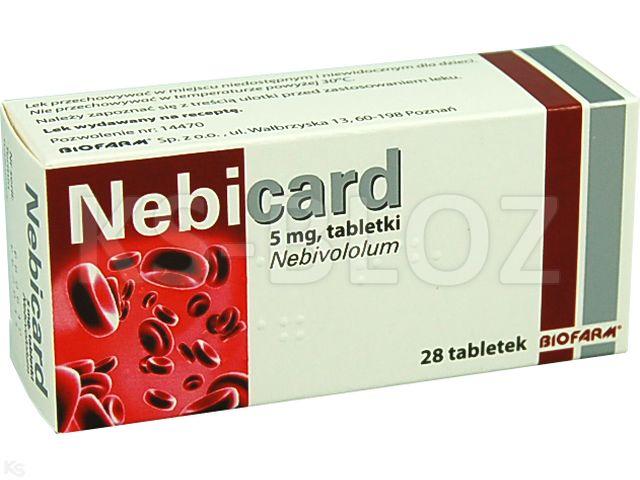 Nebicard interakcje ulotka tabletki 5 mg 28 tabl.