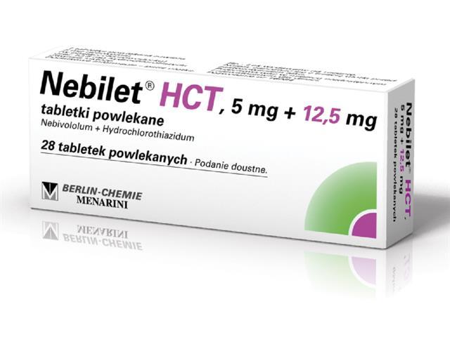 Nebilet HCT interakcje ulotka tabletki powlekane 5mg+0,0125g 28 tabl.