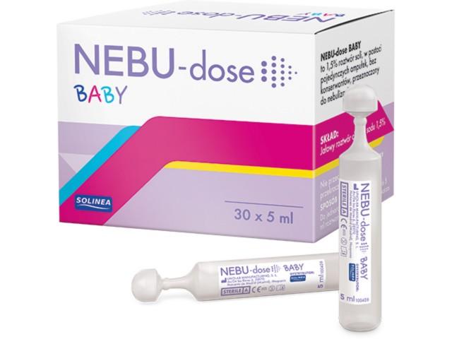 NEBU-dose BABY interakcje ulotka płyn do inhalacji  30 amp. po 5 ml