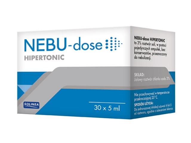 Nebu-Dose Roztwór hipertoniczny do inhal. interakcje ulotka   30 amp. po 5 ml