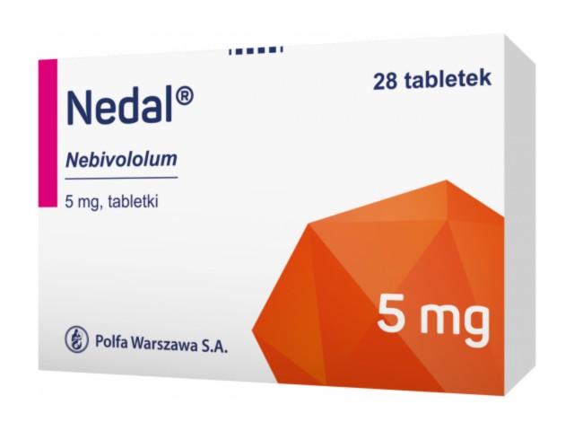 Nedal interakcje ulotka tabletki 5 mg 28 tabl.