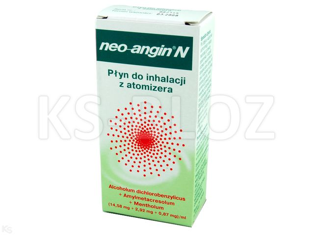 Neo-Angin Spray interakcje ulotka roztwór do stosowania na błonę śluzową jamy ustnej i gardła (0,01458g+2,92mg+0,87mg)/ml 15 ml