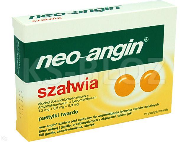 Neo-Angin Szałwia interakcje ulotka pastylki twarde 1,2mg+0,6mg+5,9mg 24 pastyl.