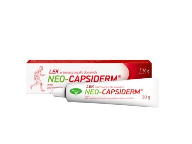 Neo-Capsiderm interakcje ulotka maść  30 g
