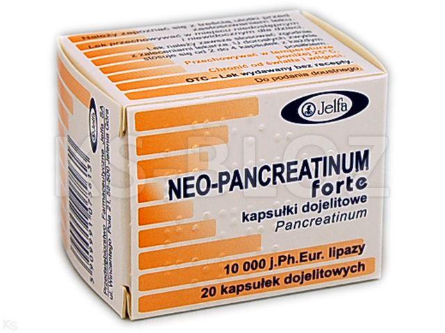 Neo-Pancreatinum Forte interakcje ulotka kapsułki dojelitowe 10 000 j. Ph.Eur. 20 kaps.