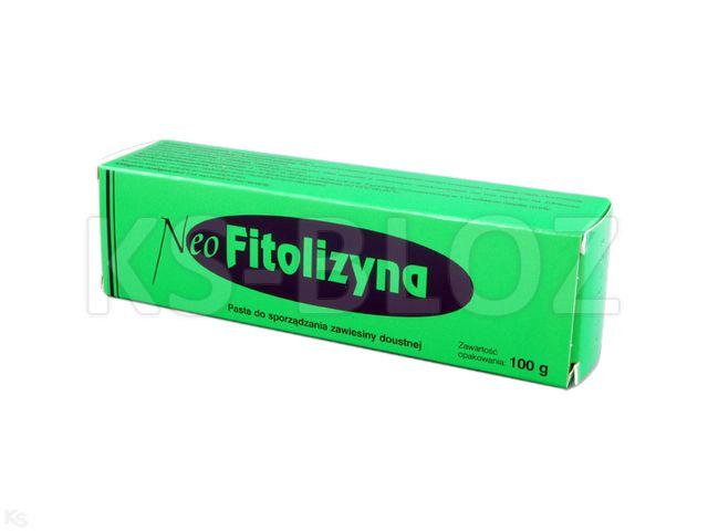 NeoFitolizyna interakcje ulotka pasta  100 g