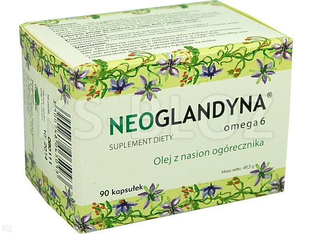 Neoglandyna Omega 6 interakcje ulotka kapsułki 0,37 g 90 kaps.