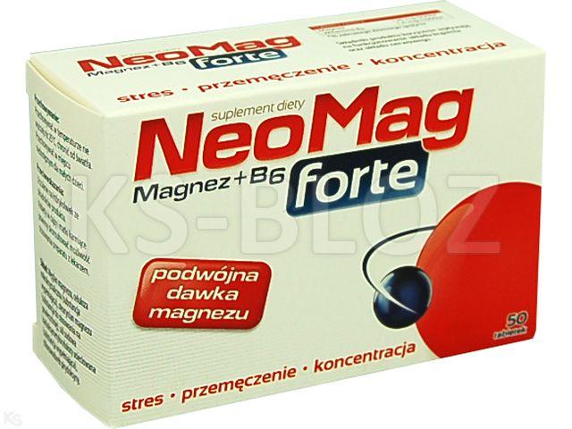 NeoMag Forte interakcje ulotka tabletki  50 tabl.