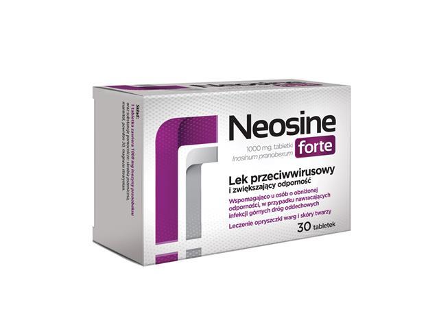 Neosine Forte interakcje ulotka tabletki 1 g 30 tabl.