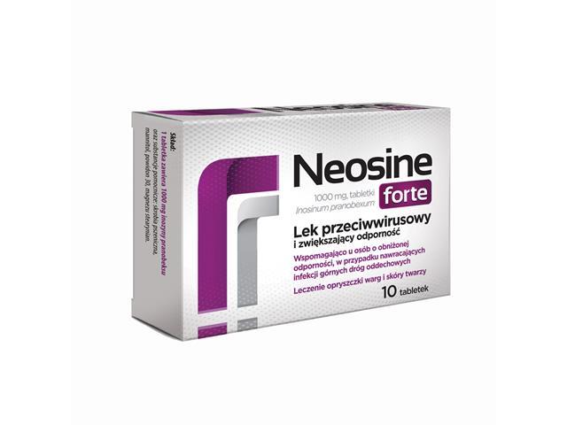 Neosine Forte interakcje ulotka tabletki 1 g 10 tabl.