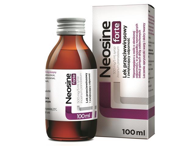 Neosine Forte interakcje ulotka syrop 0,5 g/5ml 100 ml