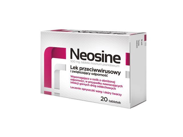Neosine interakcje ulotka tabletki 0,5 g 20 tabl.