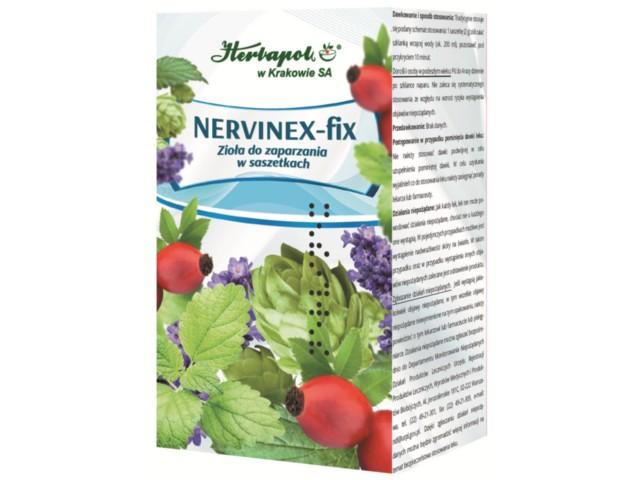 Nervinex-fix interakcje ulotka zioła do zaparzania w saszetkach 2 g 25 toreb.