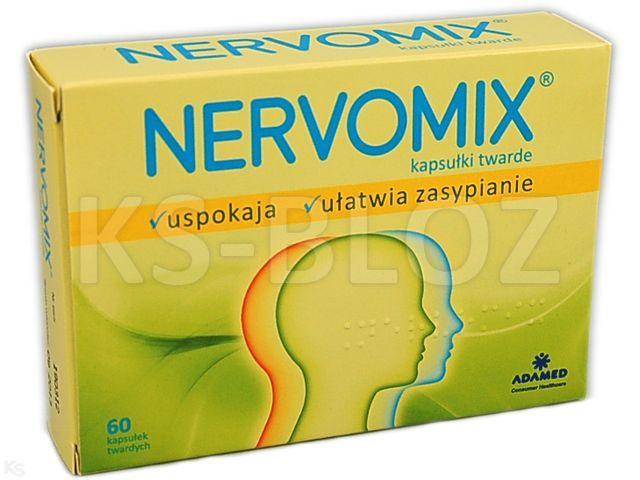 Nervomix Forte (Nervomix) interakcje ulotka kapsułki twarde  60 kaps.