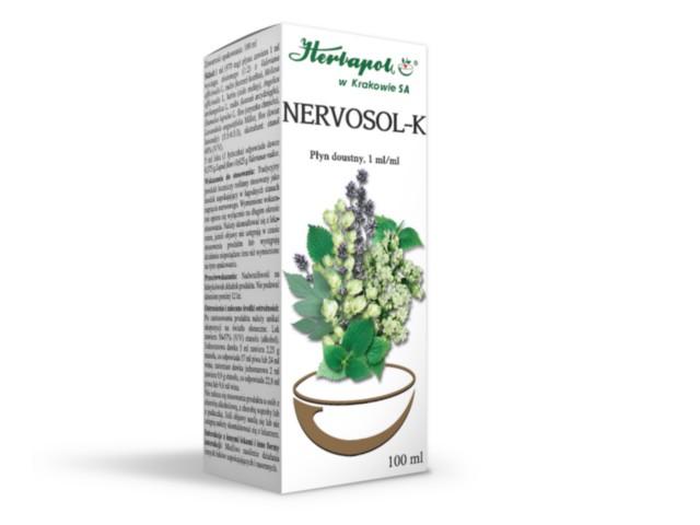 Nervosol K interakcje ulotka płyn doustny  100 ml