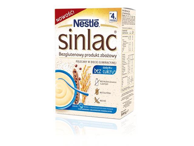 Nestle Sinlac,bezglutenowy prod.zbożowy b/dod.cukru interakcje ulotka   300 g