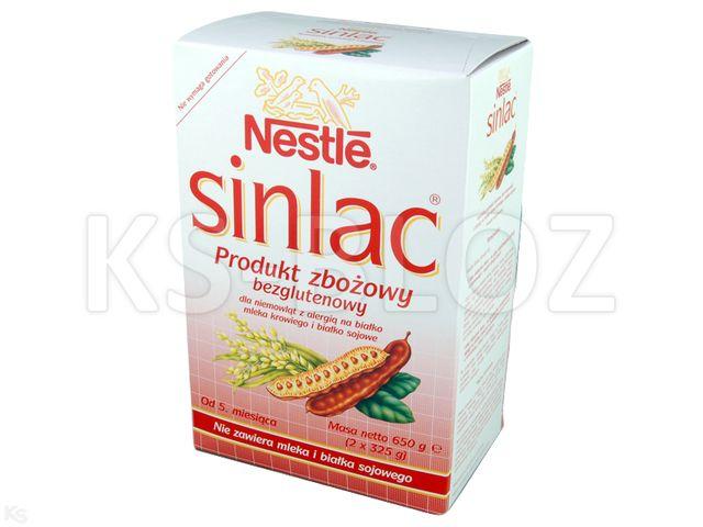 NESTLE SINLAC Odżyw.zboż. b/glut.od 5m-ca interakcje ulotka   625 g | 2x325