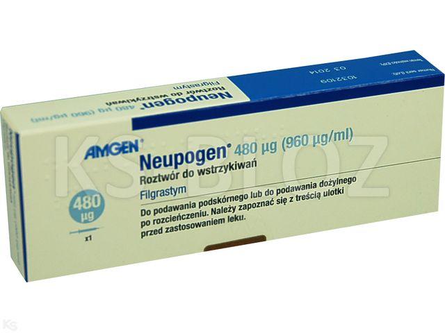 Neupogen interakcje ulotka roztwór do wstrzykiwań i infuzji 48 mln.j.m./0,5ml 1 amp.-strz. po 0,5 ml