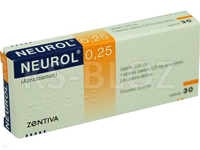Neurol 0,25 interakcje ulotka tabletki 0,25 mg 30 tabl.
